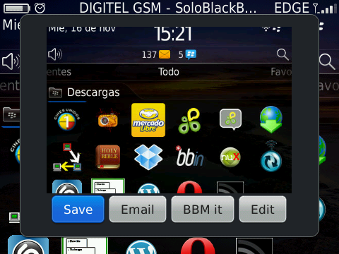 screen capture blackberry torch
